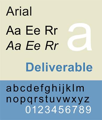 font chữ Arial
