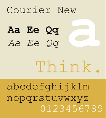 font chữ Courier New