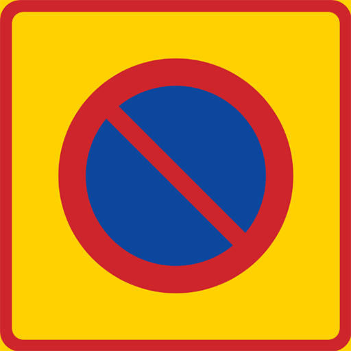 thiết kế đồ họa Biến báo cấm đậu xe tại Thụy Điển