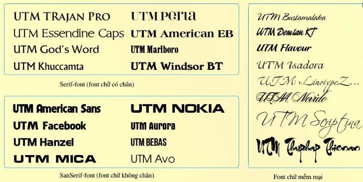 Chọn font chữ - kiểu chữ phù hợp khi làm ấn phẩm quảng cáo