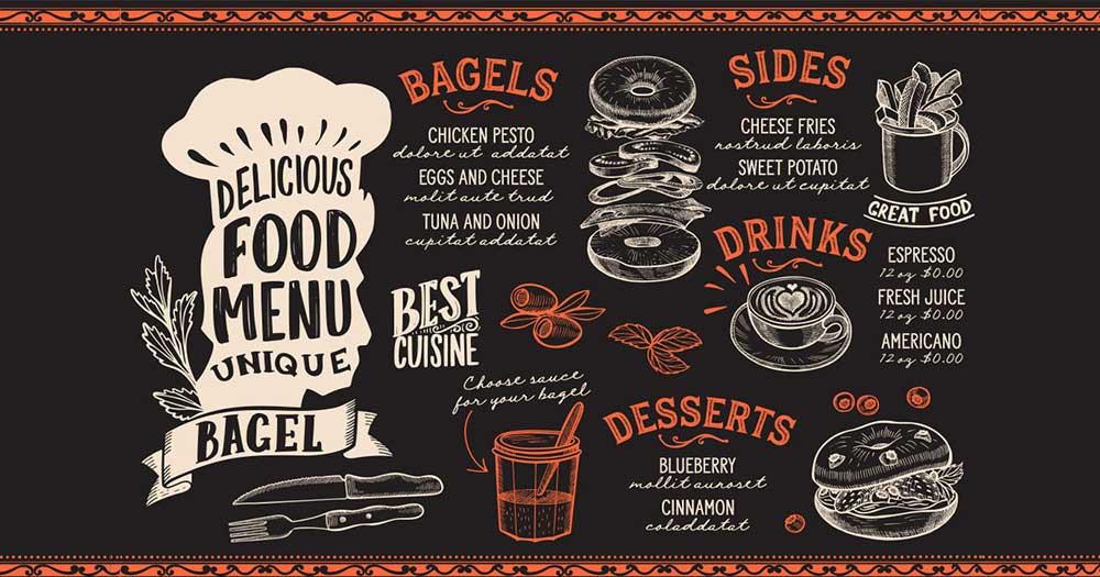 Lựa chọn font chữ sử dụng cho menu