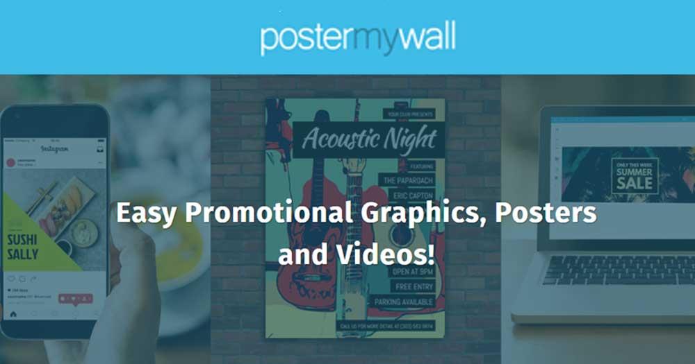 Phần mềm thiết kế menu online- Poster Wall