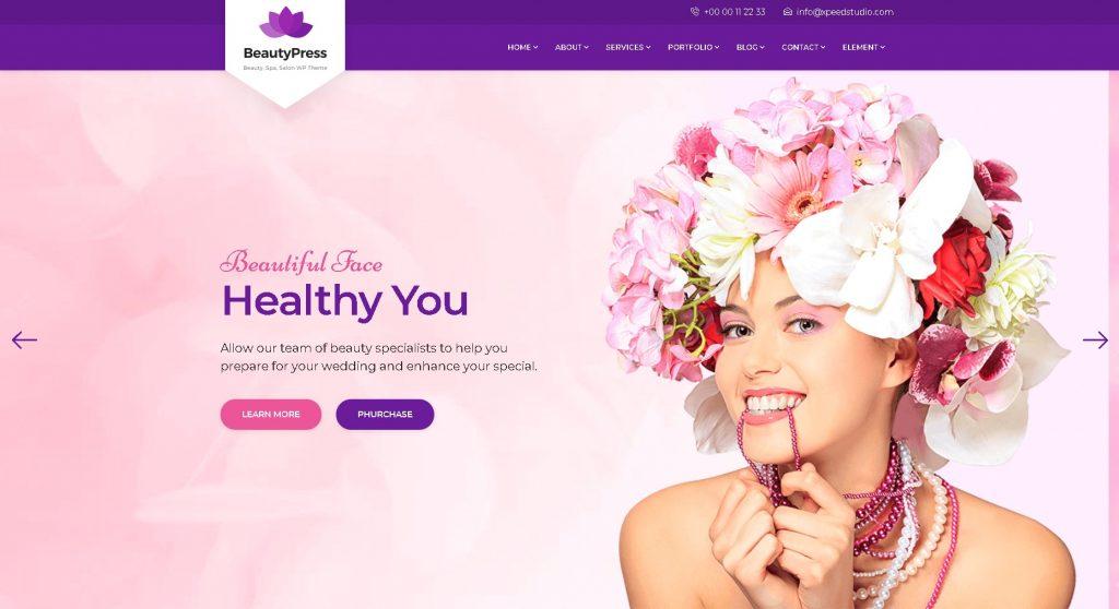 website thẩm mỹ làm đẹp Beautypress