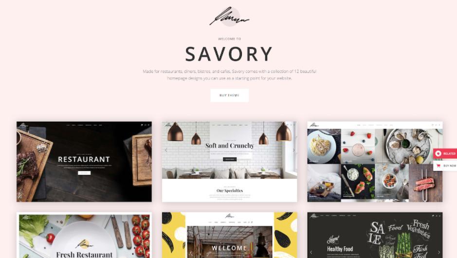 theme wordpress nhà hàng chuẩn SEO Savory