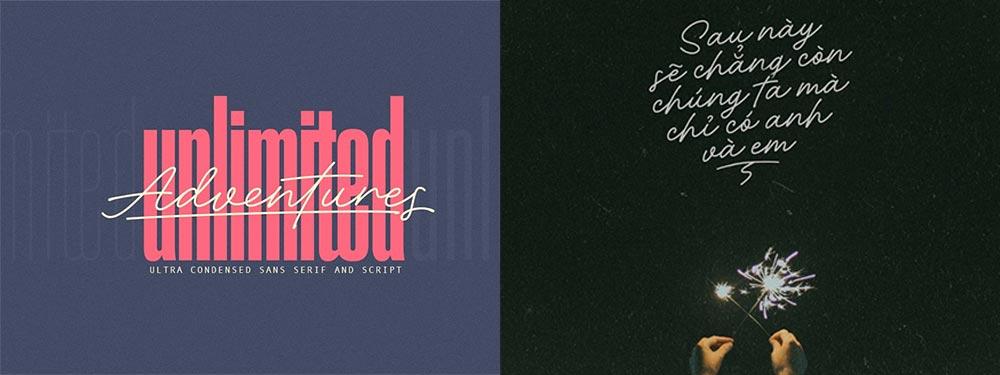 Adventures Unlimited Typography